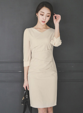 Sleeve Chiffon Dress pinch