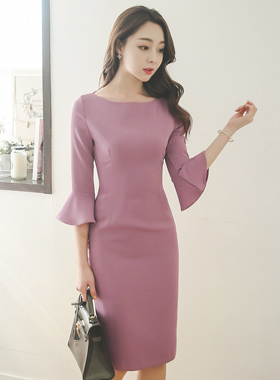 Circular cuff Slim Dress