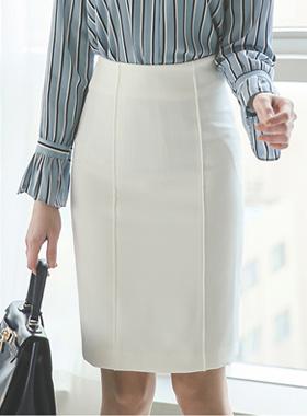 simple pin tuck line Skirt