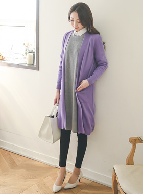 Long cardigan pocket spring