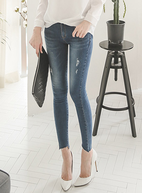 Natural damage Cutting Jeans