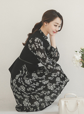 Ivy Knit SET Chiffon Dress