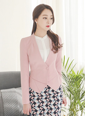 Origami No collar short jacket