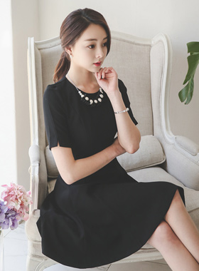 Romantic necklace Flare Dress