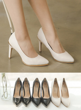 Luxury gold tips pumps Hill