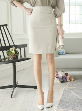 Matt Ring Formal wrap skirt