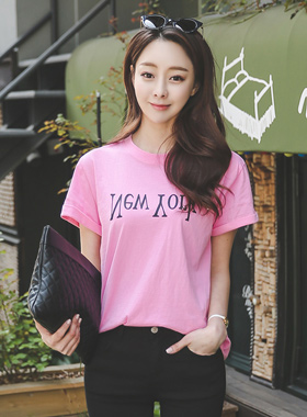 New York lettering Color Short T shirts