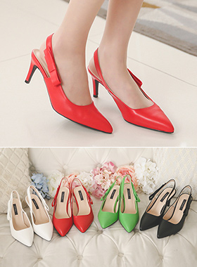 single bowknot Sling backs Hill