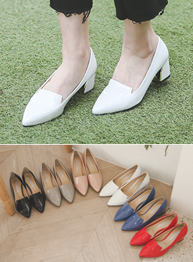 Enamel gold tips middle Loafers