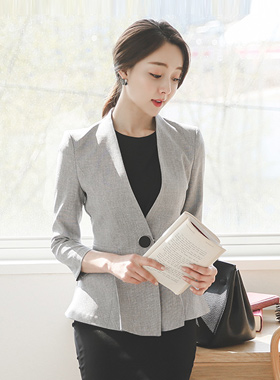 Big buttons Pleats Flare Jacket