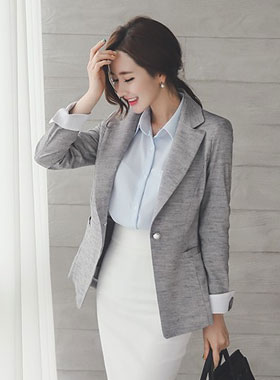 Retail color pearl button Tailored Jacket