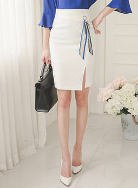 Scarf Ring Band Slit Skirt