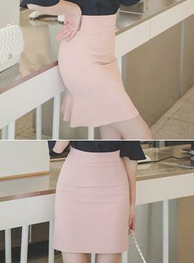 River Interstitial back Ruffle Skirt