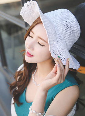 Straw Floppy Hat Knitting wire