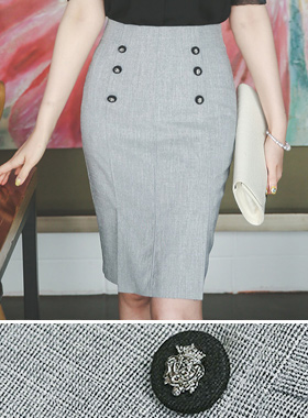 Blazon Button Lines Skirt