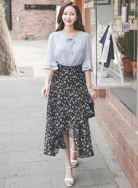 Flower Chiffon Rong skirt