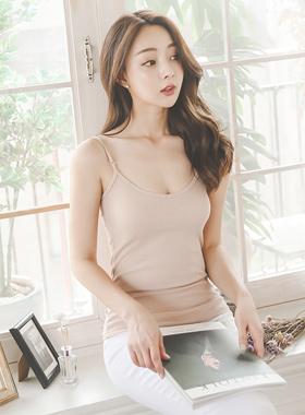 Slim Corrugated Sleeveless shirts