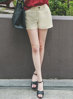 Basic Linen shorts shorts