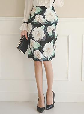 Art Flower Silky Skirt