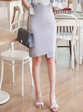 Modern Button Unformal Lap Skirt
