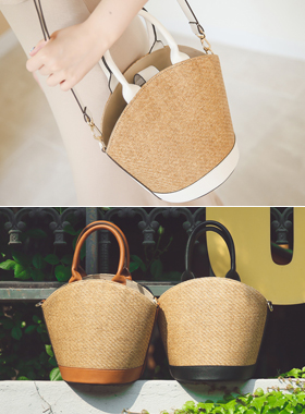 Holiday viscose bucket bag
