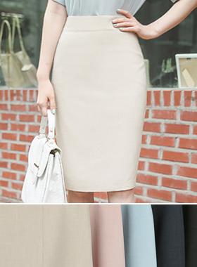 Cooling Slab Linen Texture Skirt