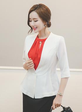 No collar Aline Jacket (7 sleeve)