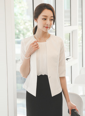 Lady cubic Raund neck Jacket (summer)