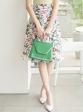 Pantone Floral Flare Skirt