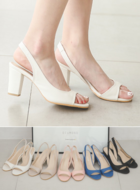 Toe open Sling backs Sandals