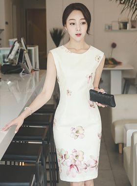 Muse Flower Jacquard Dress