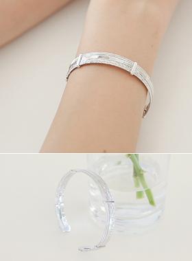 Silver policy bracelet