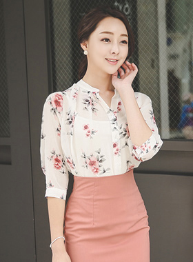 Water rose Chiffon Blouse