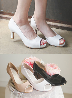 Alice Enamel Toe open Pump