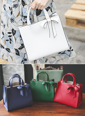 Vivid Color Ribbon Tote Bag