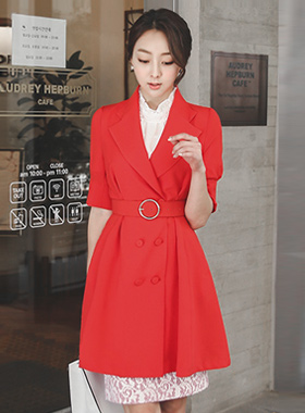 Lady volume sleeve long jacket