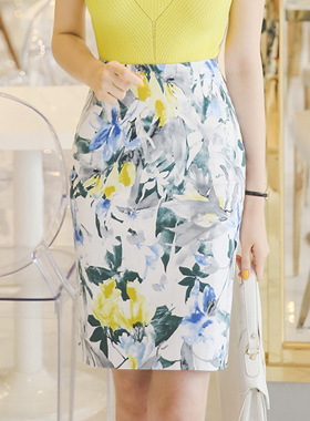 Water Lily Cotton span Skirt