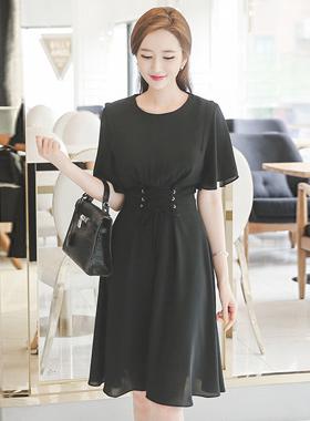Glam Corset Chiffon Dress