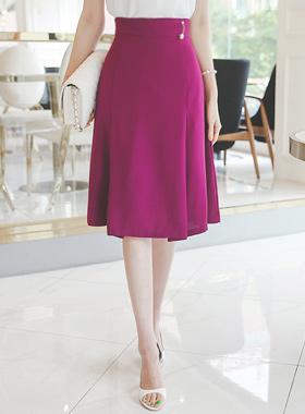 Pearl Brooch Pinch Aline Skirt