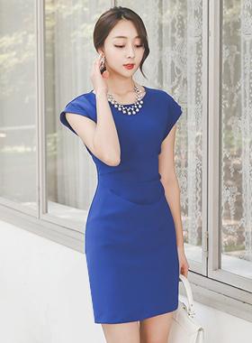 Feminine Side Shirring Dress
