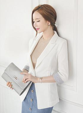 Linen texture single Taylor Jacket