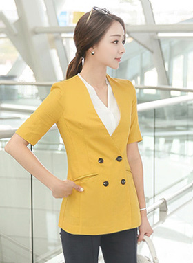 Trendy Double-button Linen Jacket
