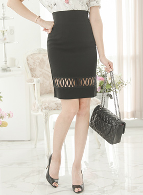Coiled Embroidery Punching Skirt