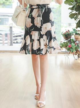 Mariang Floral Mermaid Skirt