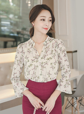 Floral Sprig China Blouse