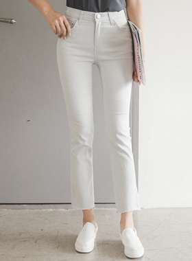 Cotton span Bending Boot cut Pants