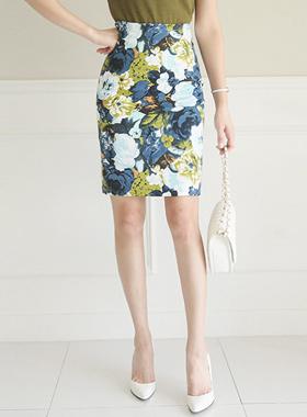 Bundle Flower Jacquard Skirt