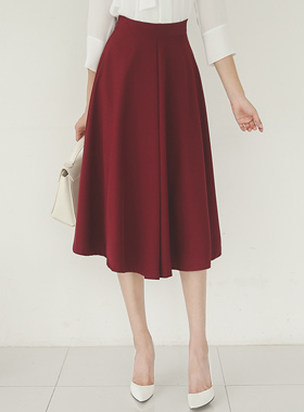 Classic Silky Chin Flare Skirt