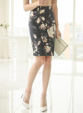 Magnolia jacquard Cotton span Skirt
