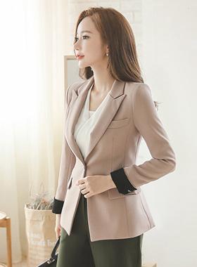 Slim single Tailored color combination Jacket